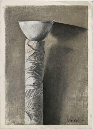 Totum I 2000 Collograph Charcoal Pastel 86 x 61cm