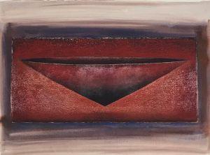 Red Vessel I 1999 Collograph Gouache 56 x 76cm