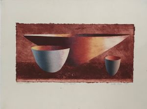 Three Bowls  1999 Collograph 56 x 76cm