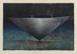 Black Vessel 1999 Collograph Gouache  56 x 76cm