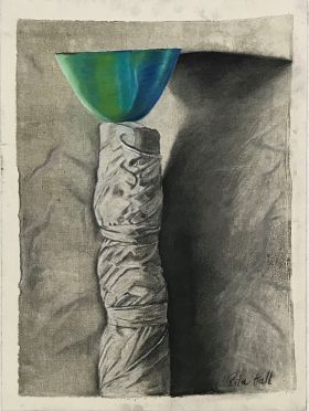 Totum II 2000 Collograph Charcoal Pastel 86 x 61cm