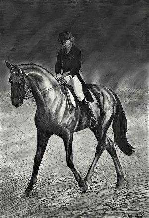Sideways Horse 1997 Charcoal 83 x 56cm