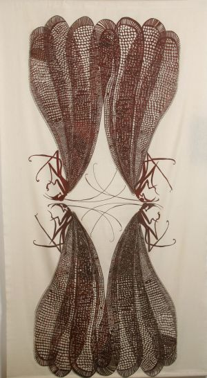 Lacewing 1980 Screen Print 213x117cm