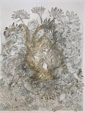 3. Tea Pot 2014 collograph & watercolor 76 x 56cm