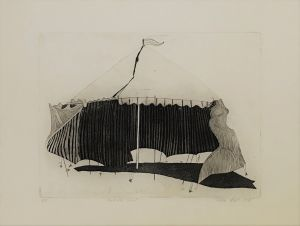 Carnival Tent 1978 56 x 76cm Etching