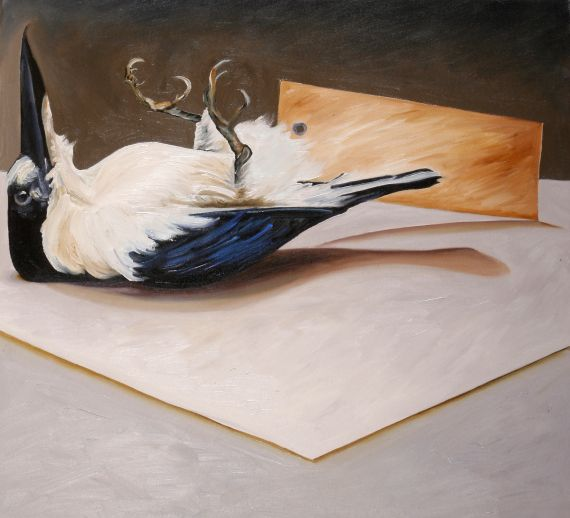 Azure Kingfisher 1 2008 oil on canvas 60x66cm