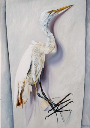 Egret 2009 Oil on canvas 148x95cm