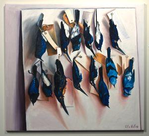 Blue Birds 2009 Oil on Canvas