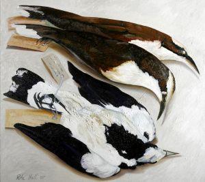 Three Birds 2007 Oil on linen 77x84cm