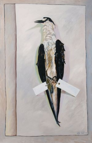 Sooty Tern 2008 Oil on canvas 148x95cm