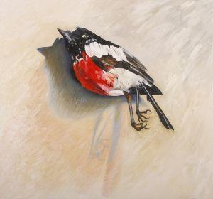 Scarlet Robin 2008 oil on linen 85x91cm