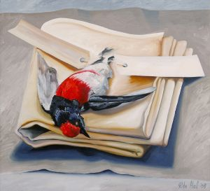 Robin Laying On A Cloth 2008 Oil on canvas 60x66cm
