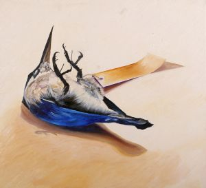 Azure Kingfisher 2 2008 oil on canvas 60x66cm